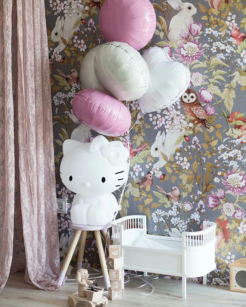 Bunnies in Kids Interiors   dcor wallpaper decals plushtoys 800x999