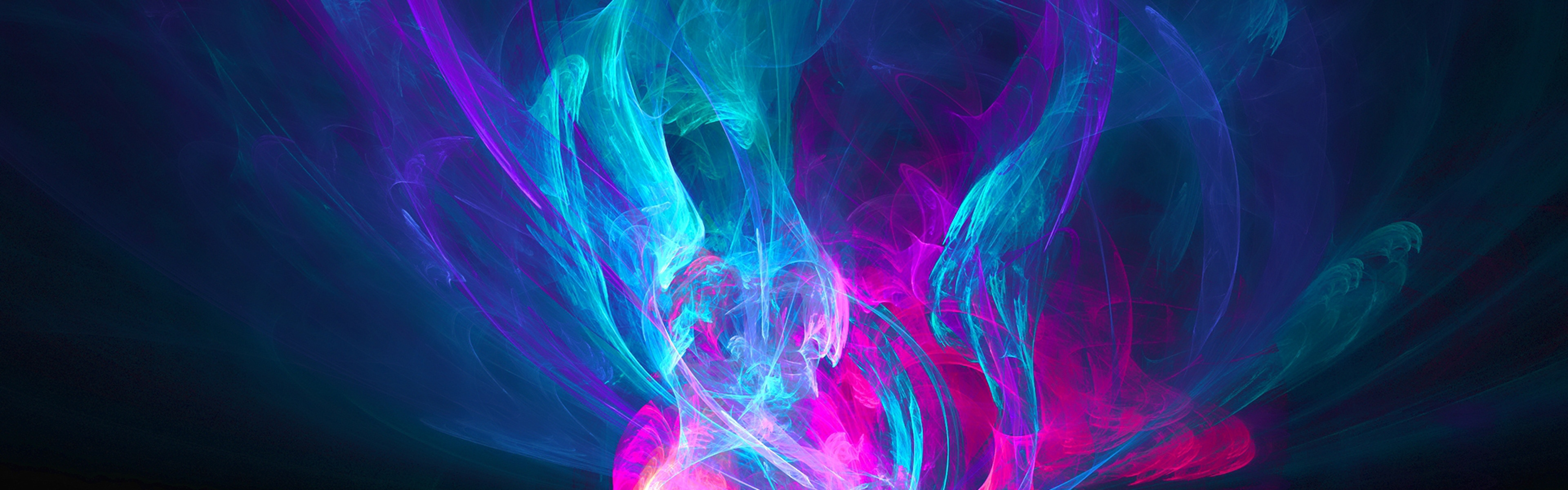 Free Download Pink Purple And Blue Wallpapers 3840x1200 For Your