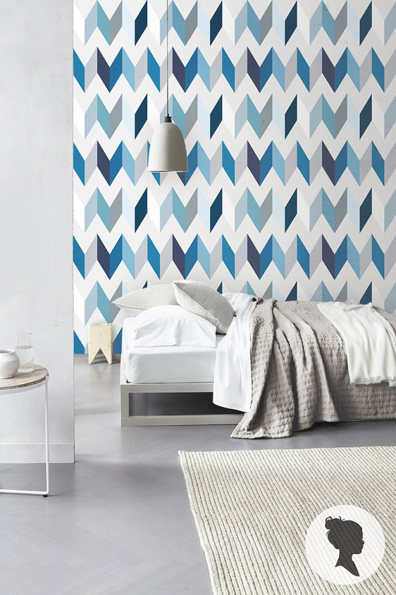 Peel and Stick Chevron Pattern Removable Wallpaper by Livettes 570x855