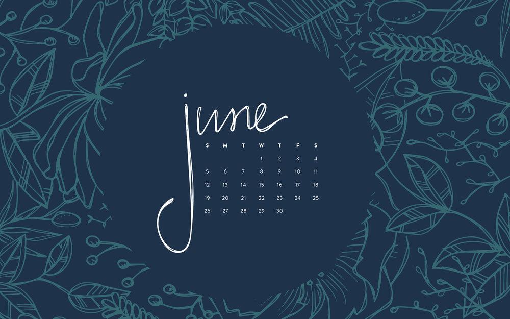 Desktop Wallpaper June 2016 Calendar Britt Fabello 1000x625