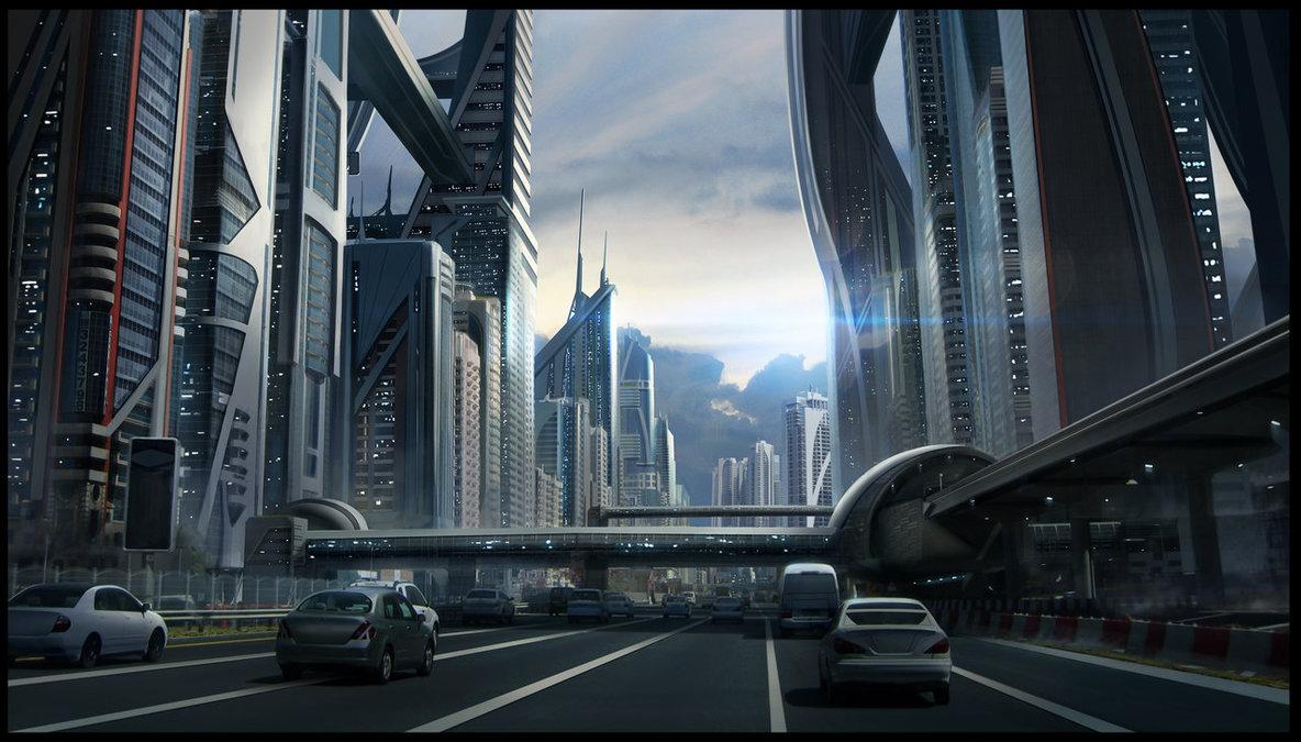 Sci-fi Cityscape by SebastianWagner on DeviantArt