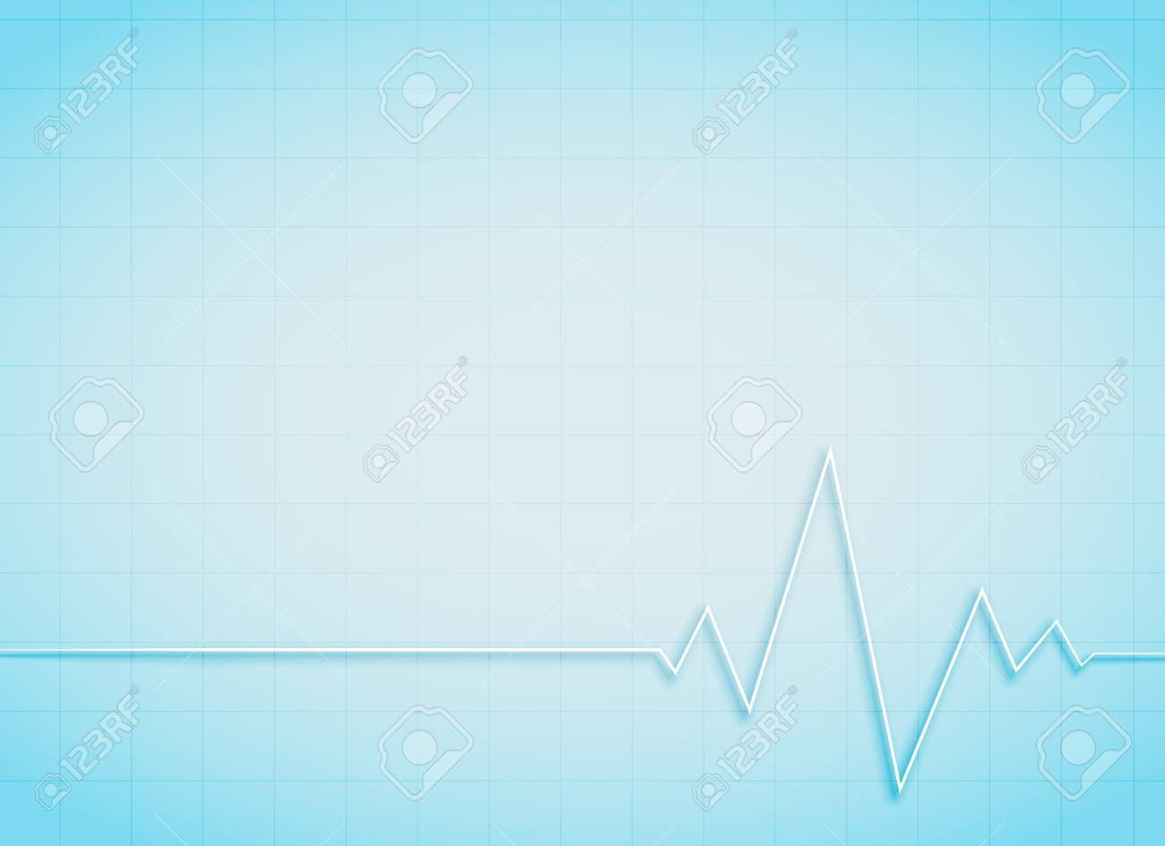 Clean Medical And Healthcare Background With Heart Beat Royalty 1300x945