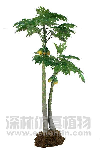 Big artificial tropical tree fake papaya tree chinese flowering quince 400x602