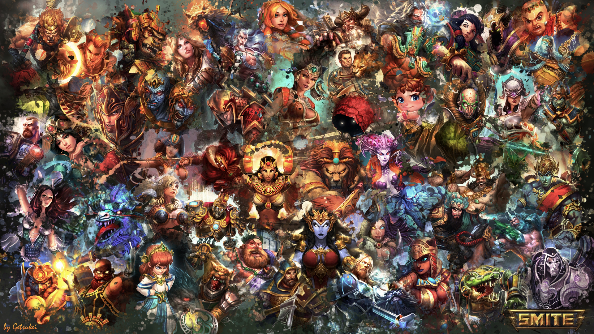 SMITE   All Gods Wallpaper Serqet Edition by Getsukeii 1920x1080