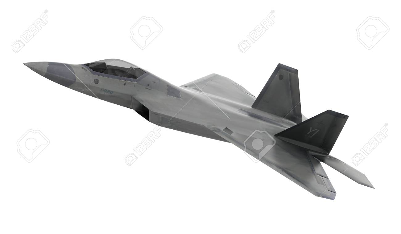 Fighter Aircraft Isolated On White Background   3D Render Stock 1300x760