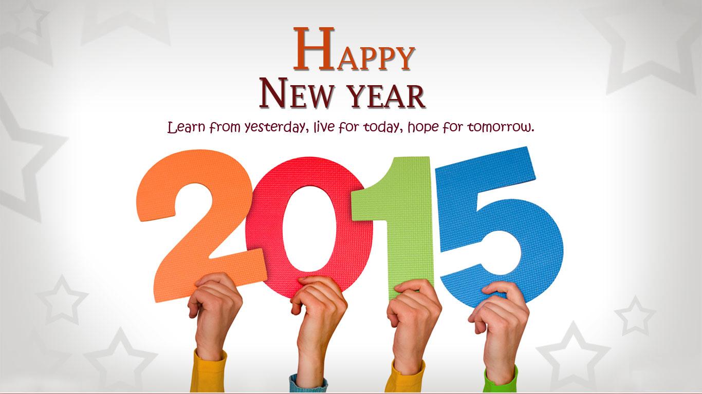 New year 2015 greetings wallpaper wallpapersafari new year greetings cards 2015 quote wallpaper 1366768 1366x768 m4hsunfo