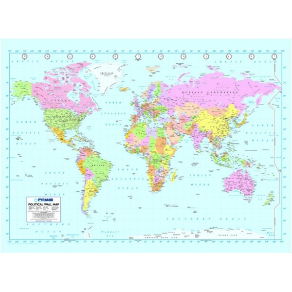 Home Wall Posters Map B 002 World Map Wallpaper Wall Mural 600x600