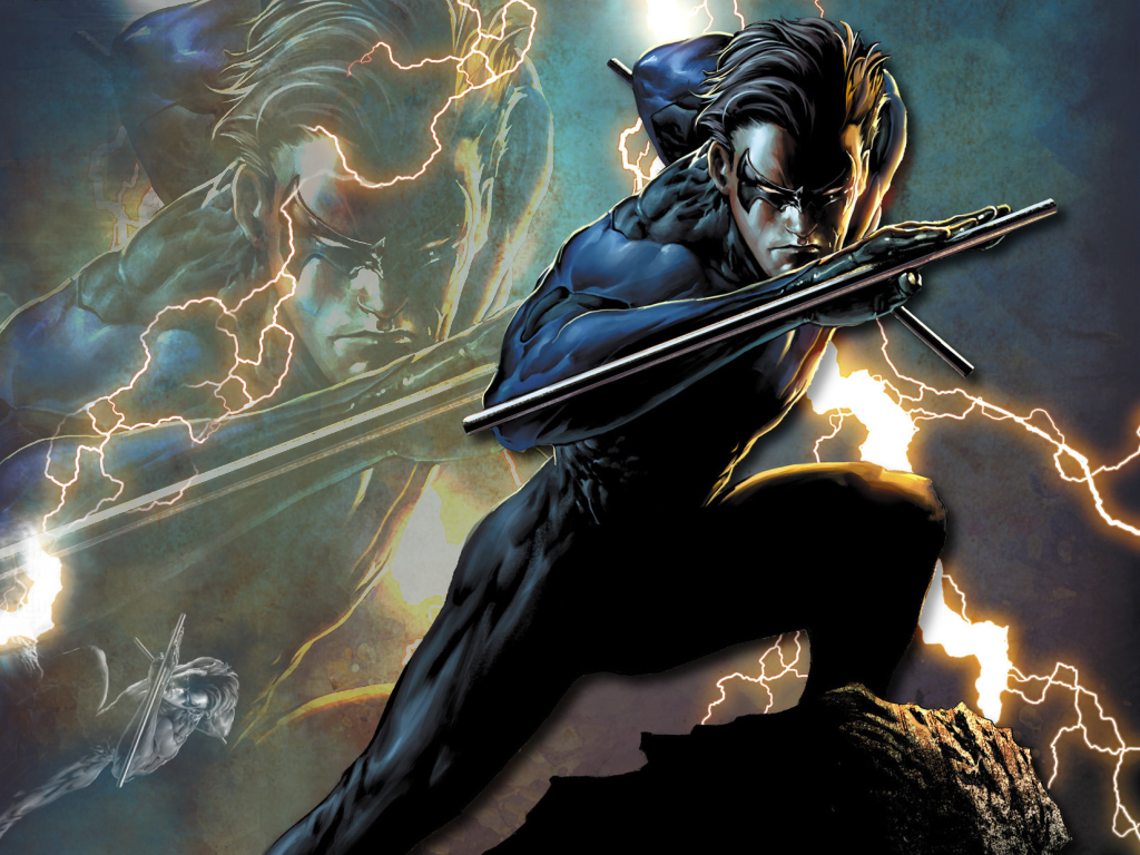 me this has got to be the coolest pic of nightwing i ve ever seen 1024x768