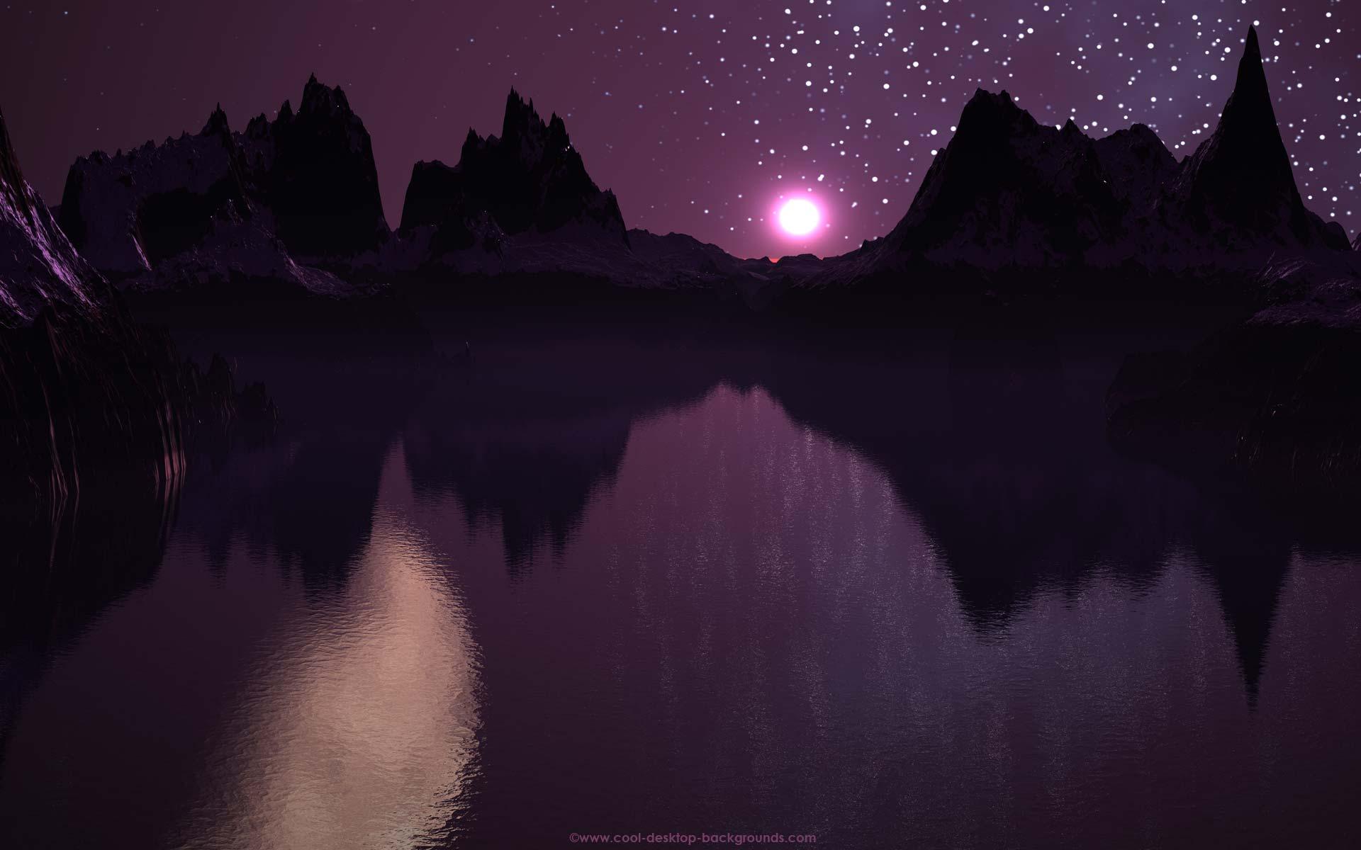backgrounds landscape fjord midnight purple desktops wallpaper 1920x1200