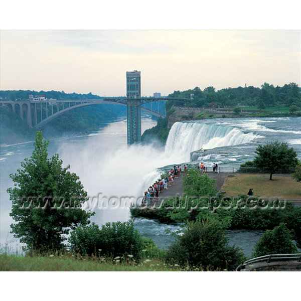 BH3026 Cityscape Waterfall landscape decoration Wallpaper Muralsjpg 600x600