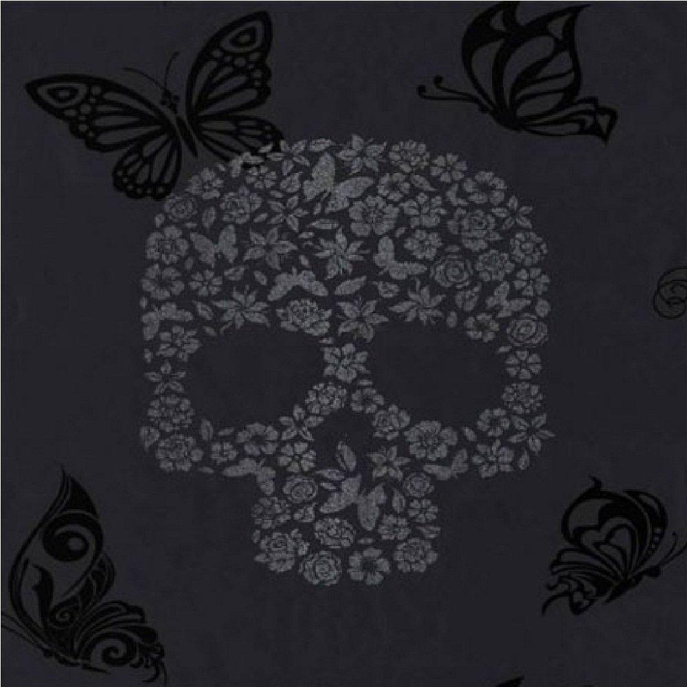 Wallpaper Muriva Muriva Skulls Glitter Wallpaper J21809 1000x1000
