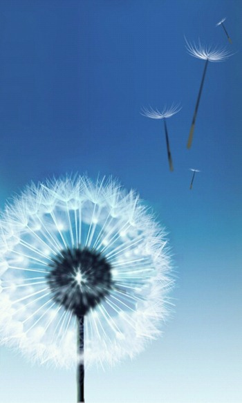 Galaxy S3 live wallpapers which named Dandelion deep sea and luminous 350x583