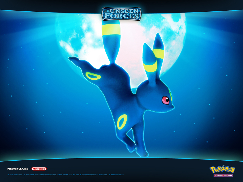 Download the Pokemon anime wallpaper titled Umbreon 1024x768