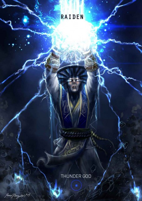 Mortal Kombat X Wallpaper Raiden Thunder God Variation Fanart by 453x640