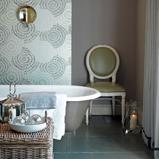 bathroom with metallic wallpaper posts related to luxury bathroom 550x550
