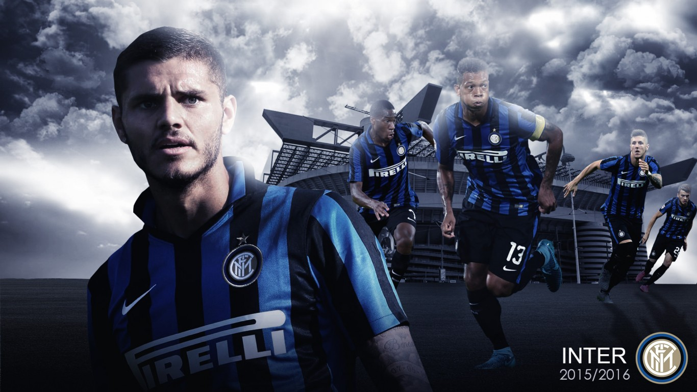 Mauro Icardi Inter 20152016 Wallpaper   Football Wallpapers HD 1366x768