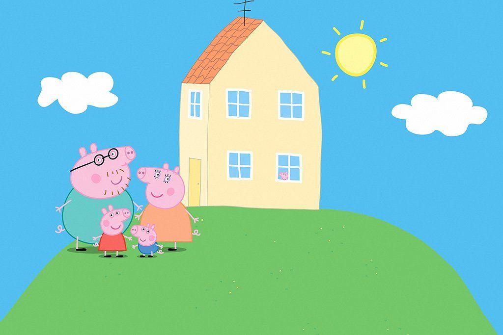 Peppa Pig Series Poster Peppa pig house Peppa pig colouring 1024x683