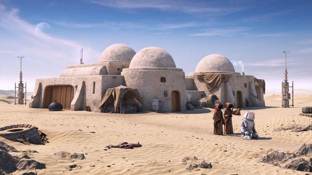 Free Download Star Wars Desert Robot Cartoon Wallpaper Star Wars