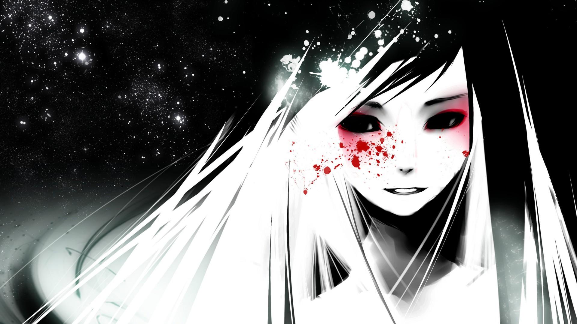 Download dark anime cartoon girl hd image HD wallpaper 1920x1080