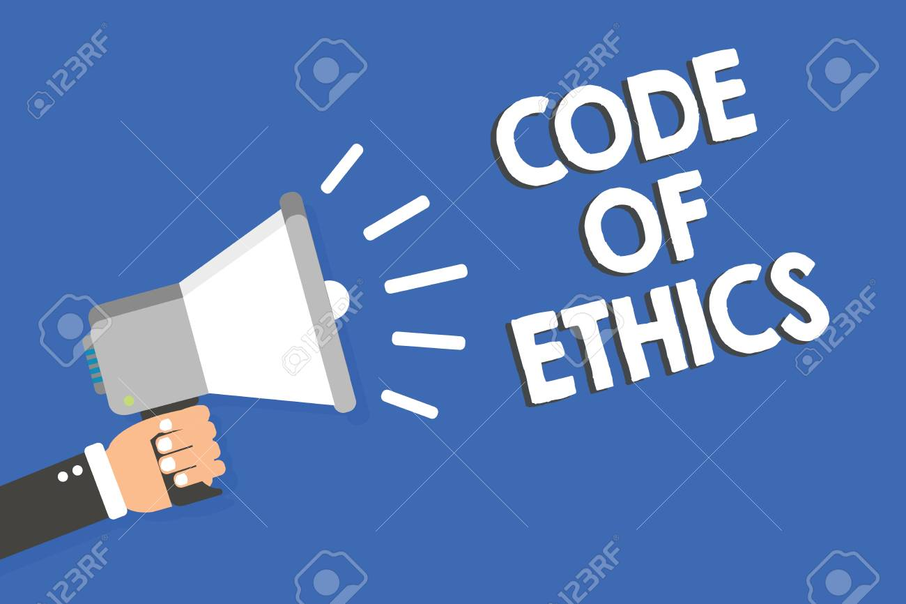 Text Sign Showing Code Of Ethics Conceptual Photo Moral Rules 1300x866