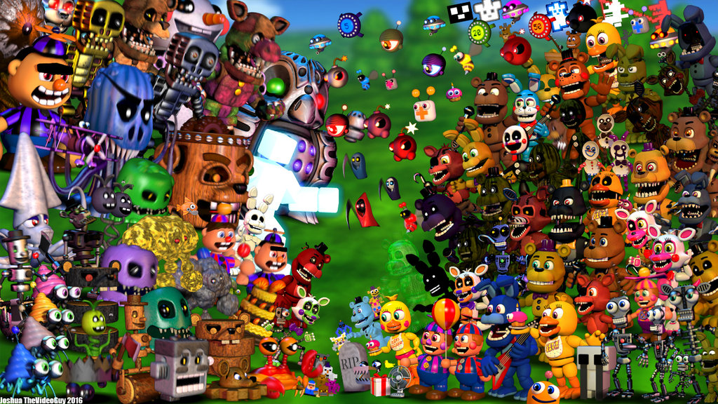 FNaF World Wallpaper By Joshua TheVideoGuy by JoshuaTheVideoGuy on 1024x576
