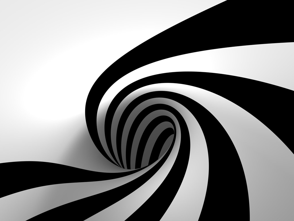 3D Black and White Abstract   PPT Backgrounds Templates 1024x768
