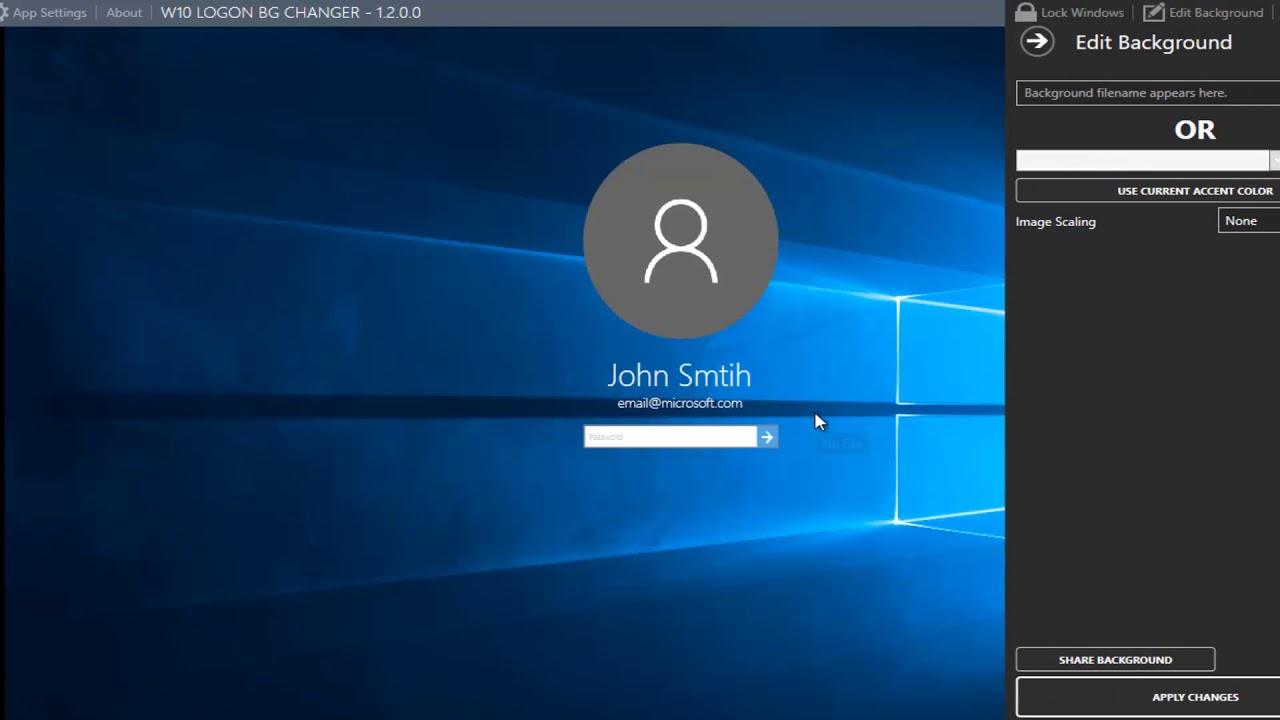 How to Change the Windows 10 Login Screen Wallpaper 1280x720