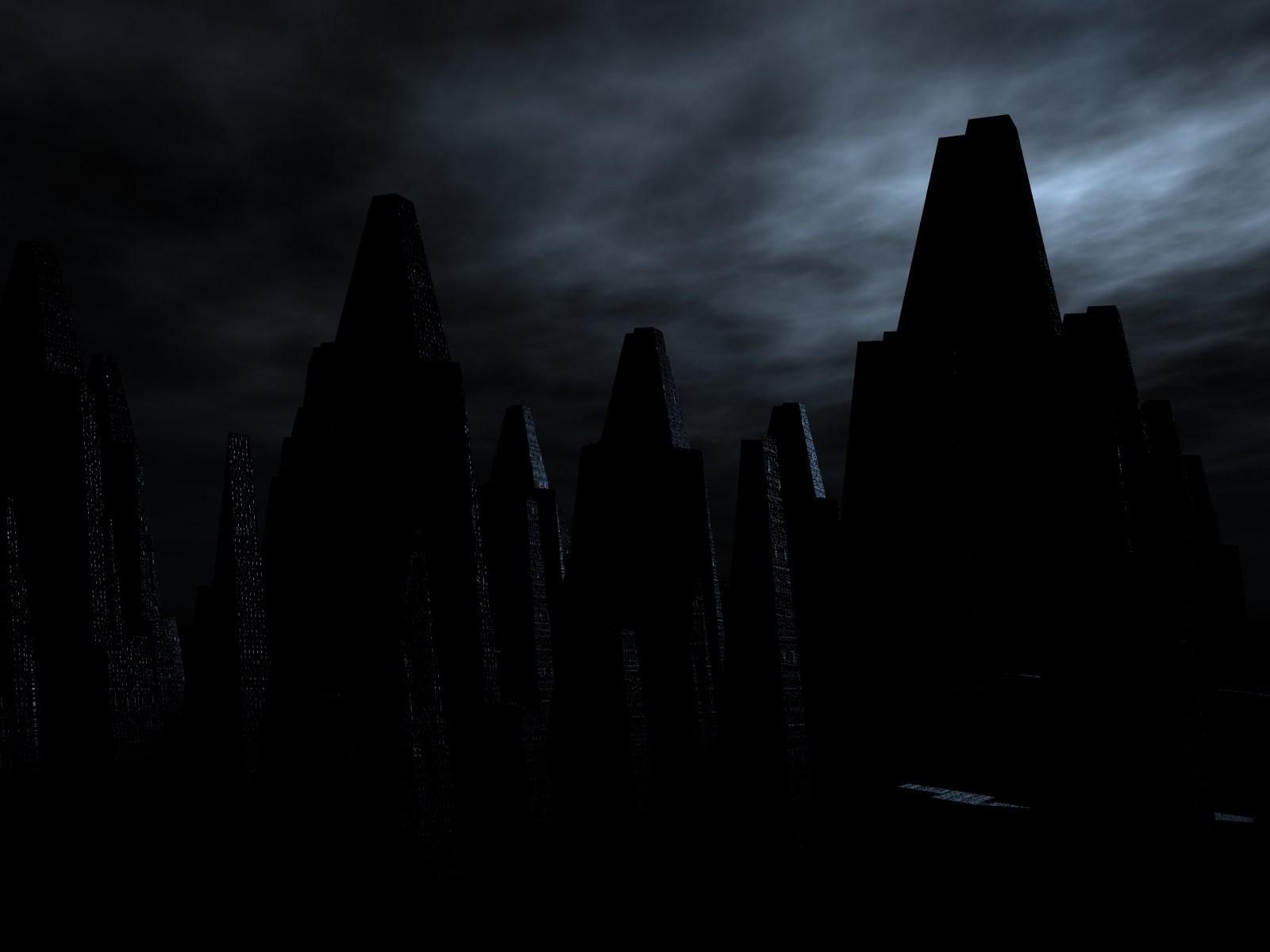 Dark City Background Dark city wallpaper 1600x1200