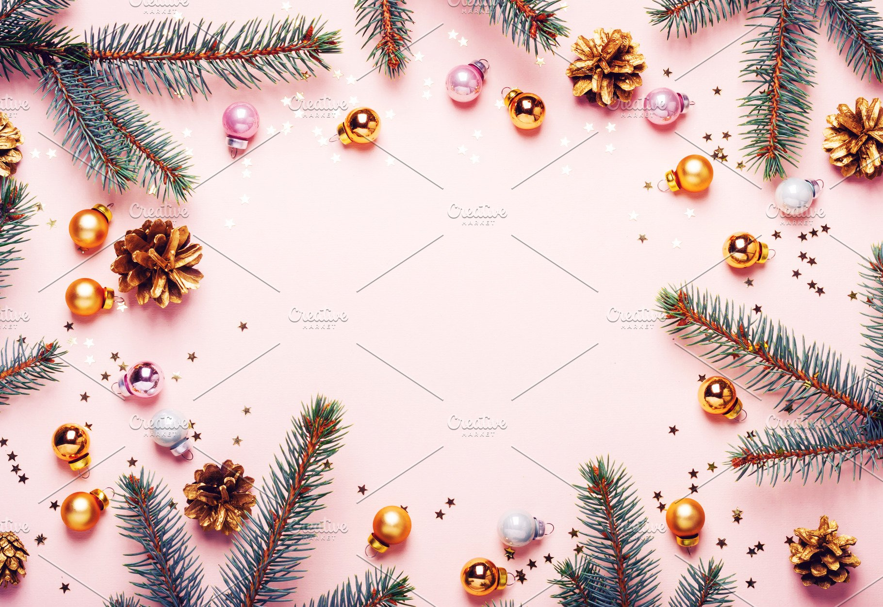 Pastel Pink Christmas Background Fe Holiday Photos Creative 1820x1252