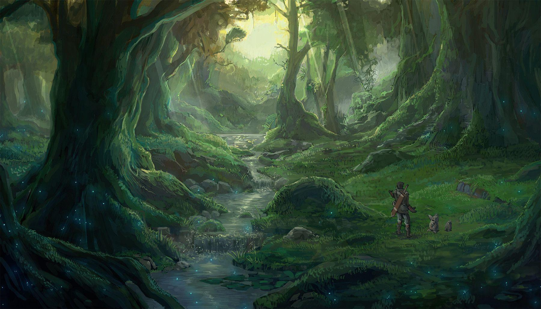 Anime Forest Backgrounds 1800x1029