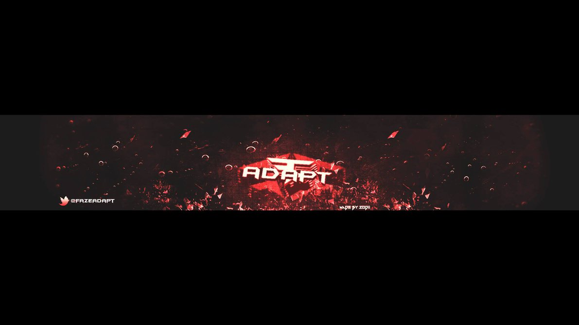 download First 3D Banner For FaZe Adapt by ZodiiArts 1191x670