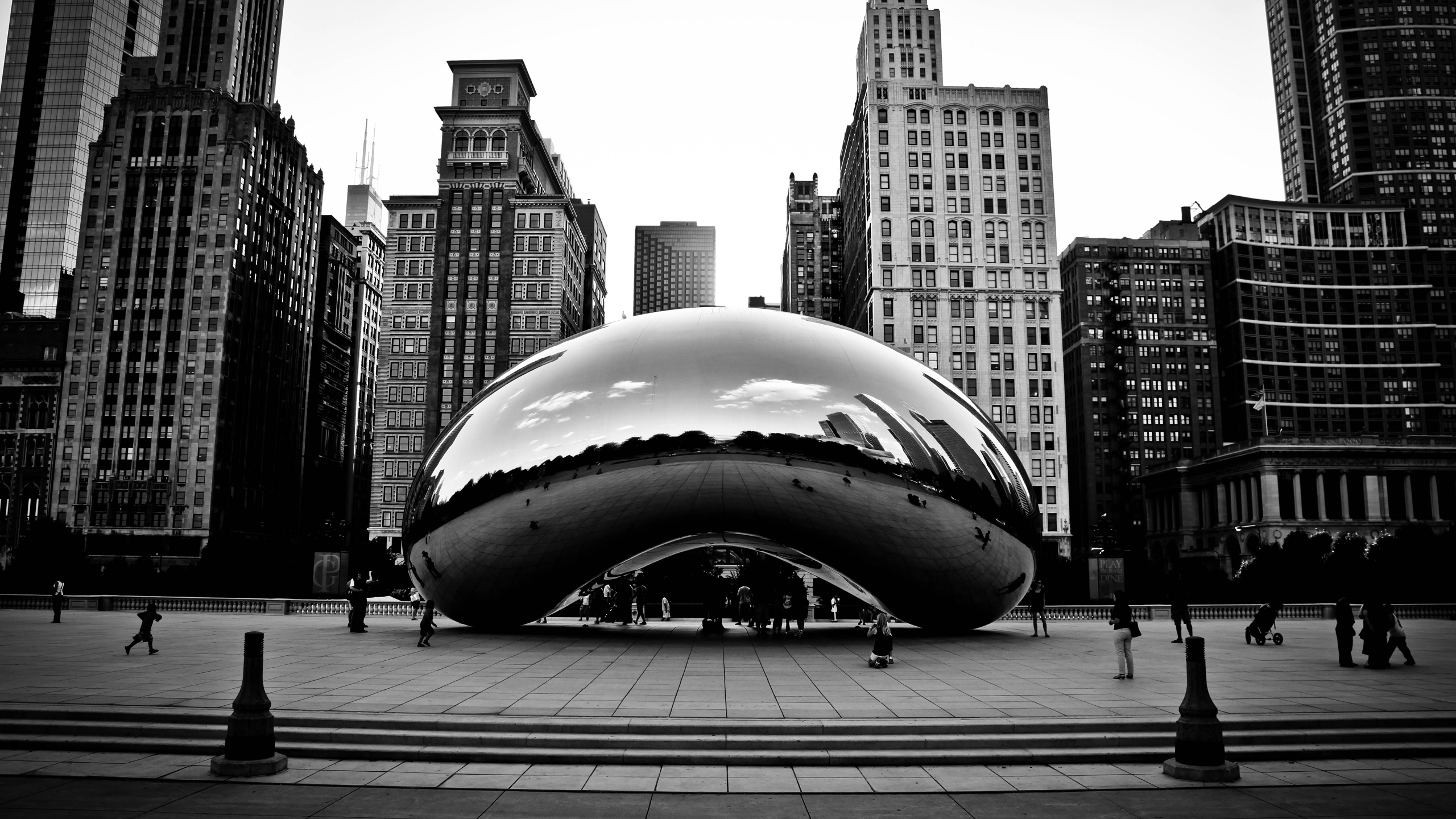 Chicago Winter Bean   wallpaper 2560x1440