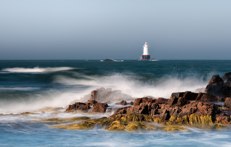 Wallpaper the ocean coast lighthouse USA lighthouse New 1332x850