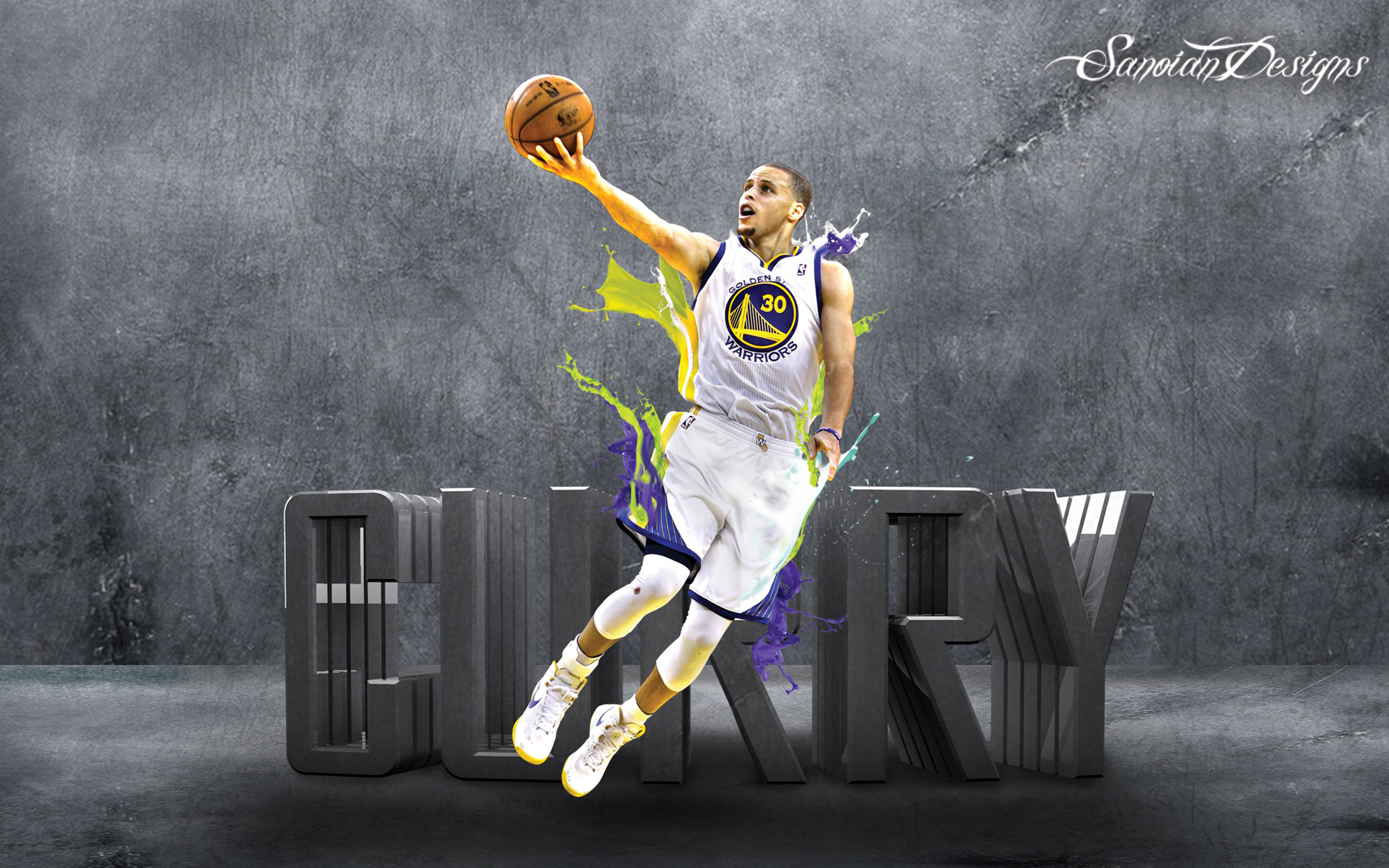 Stephen Curry Splash Wallpaper The Art Mad Wallpapers 2560x1600