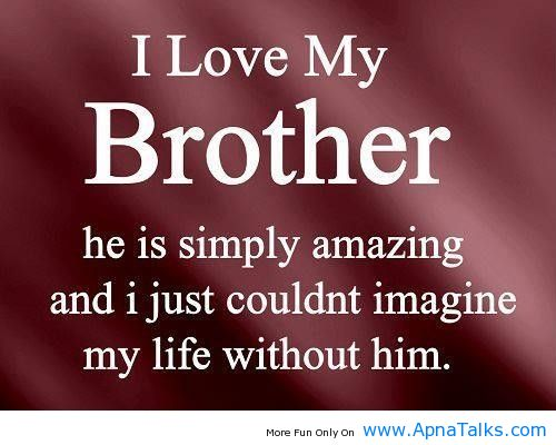 Love My Big Brother Quotes From Little Sister I love my brother he 500x400