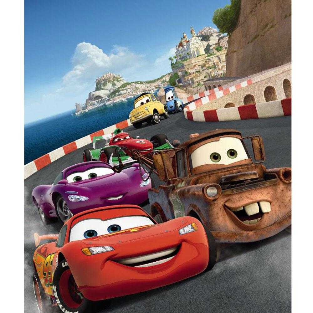 Disney car wall murals wall murals youll love disney cars wallpaper wallpapersafari amipublicfo Image collections