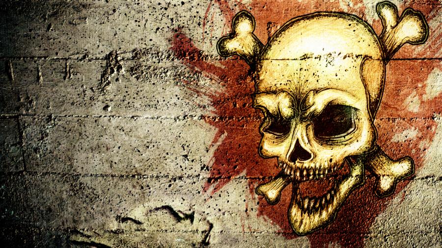 HD Grunge Skull Wallpaper by pR1m3vil 900x506