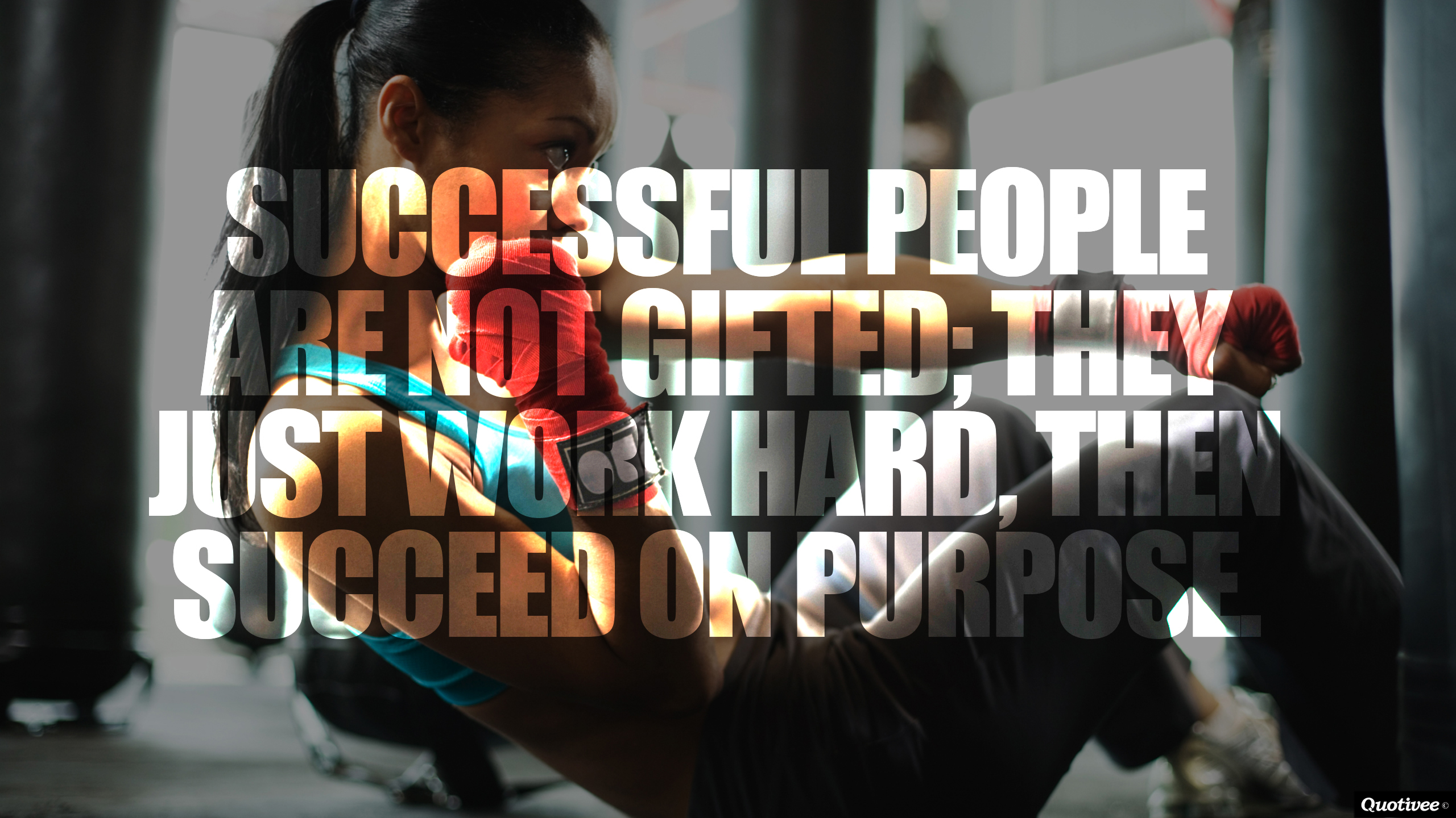 Inspirational Quote Backgrounds Hard Work Not gifted   inspirational 2560x1440