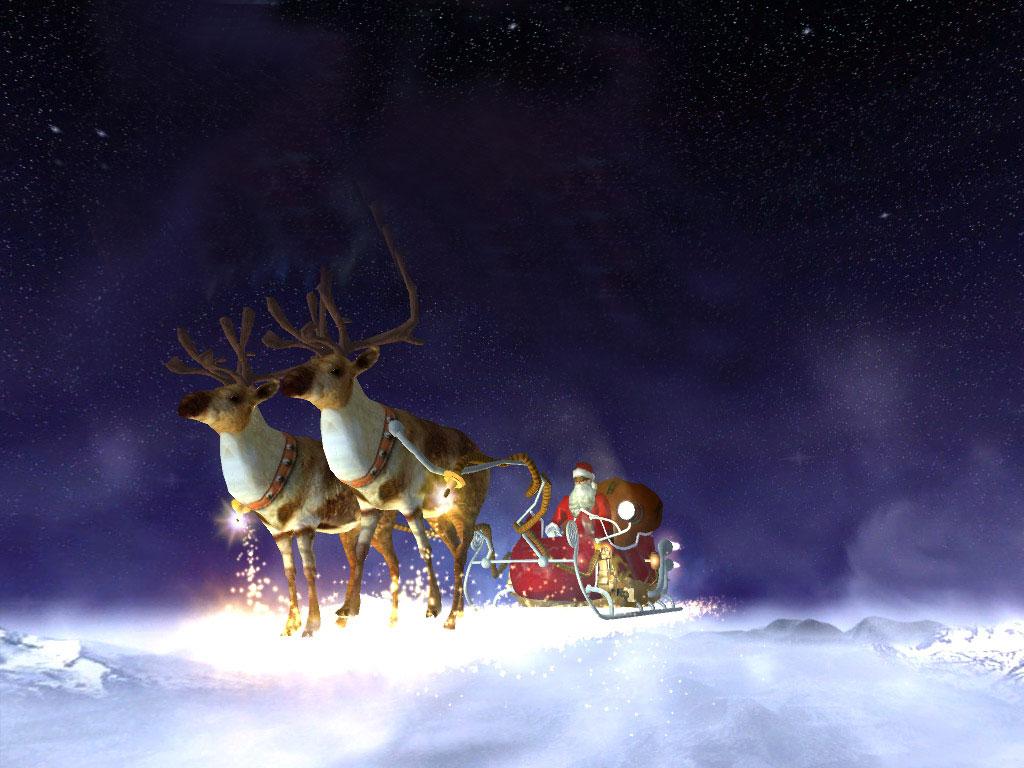 Santas Flight 3D screensaver a breathtaking flight in a reactive 1024x768