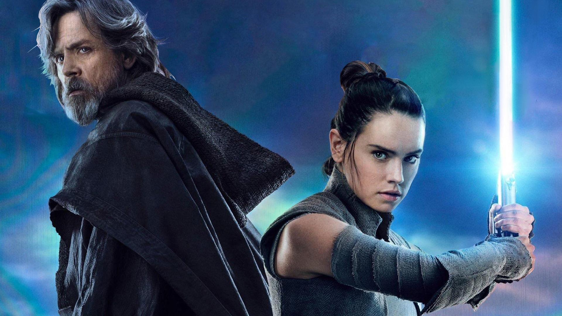 Free Download Hd Luke Skywalker And Rey Star Wars The Last Jedi