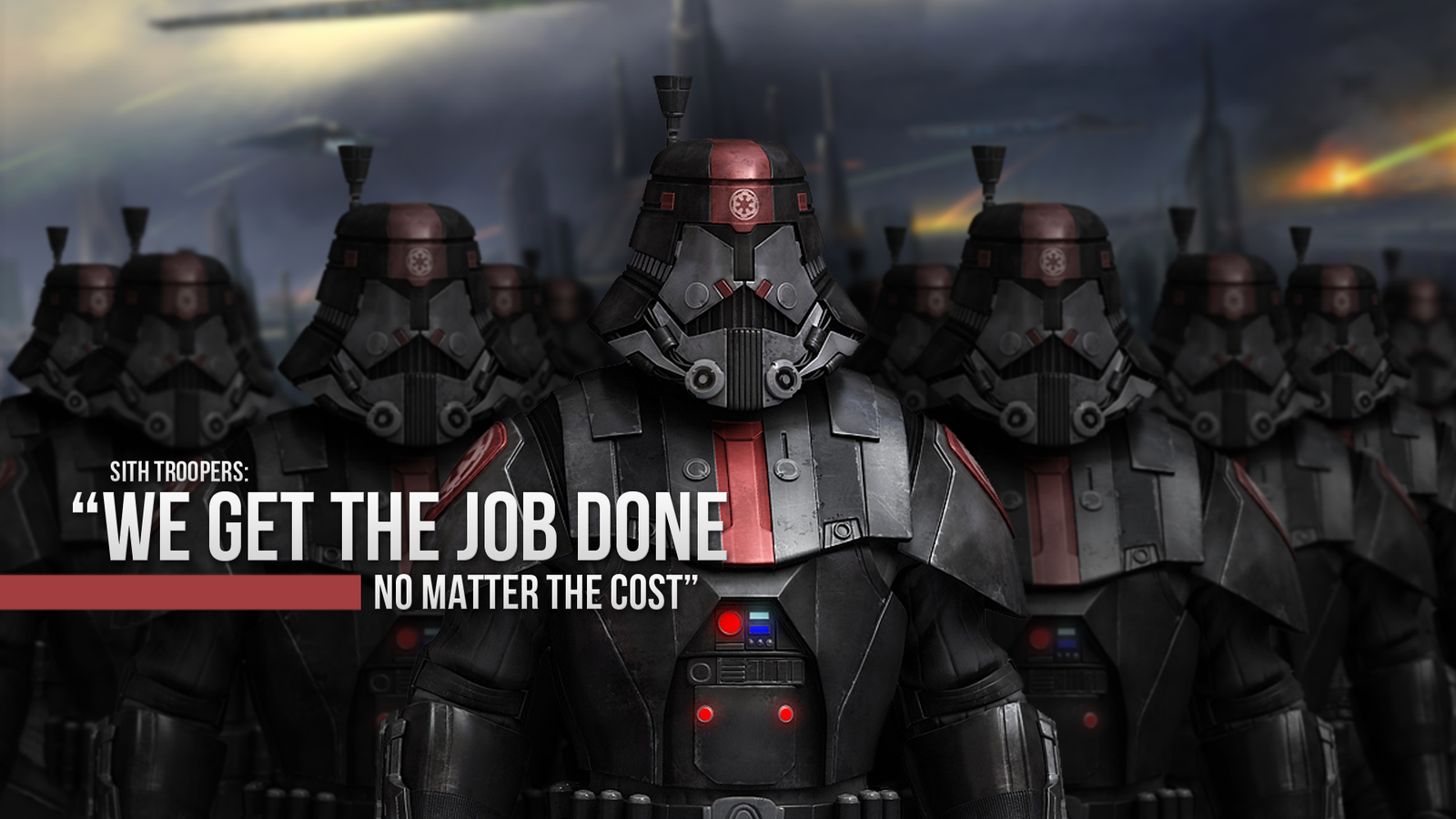 Sith Wallpaper 1080p Sith troopers 1080p by 1600x900