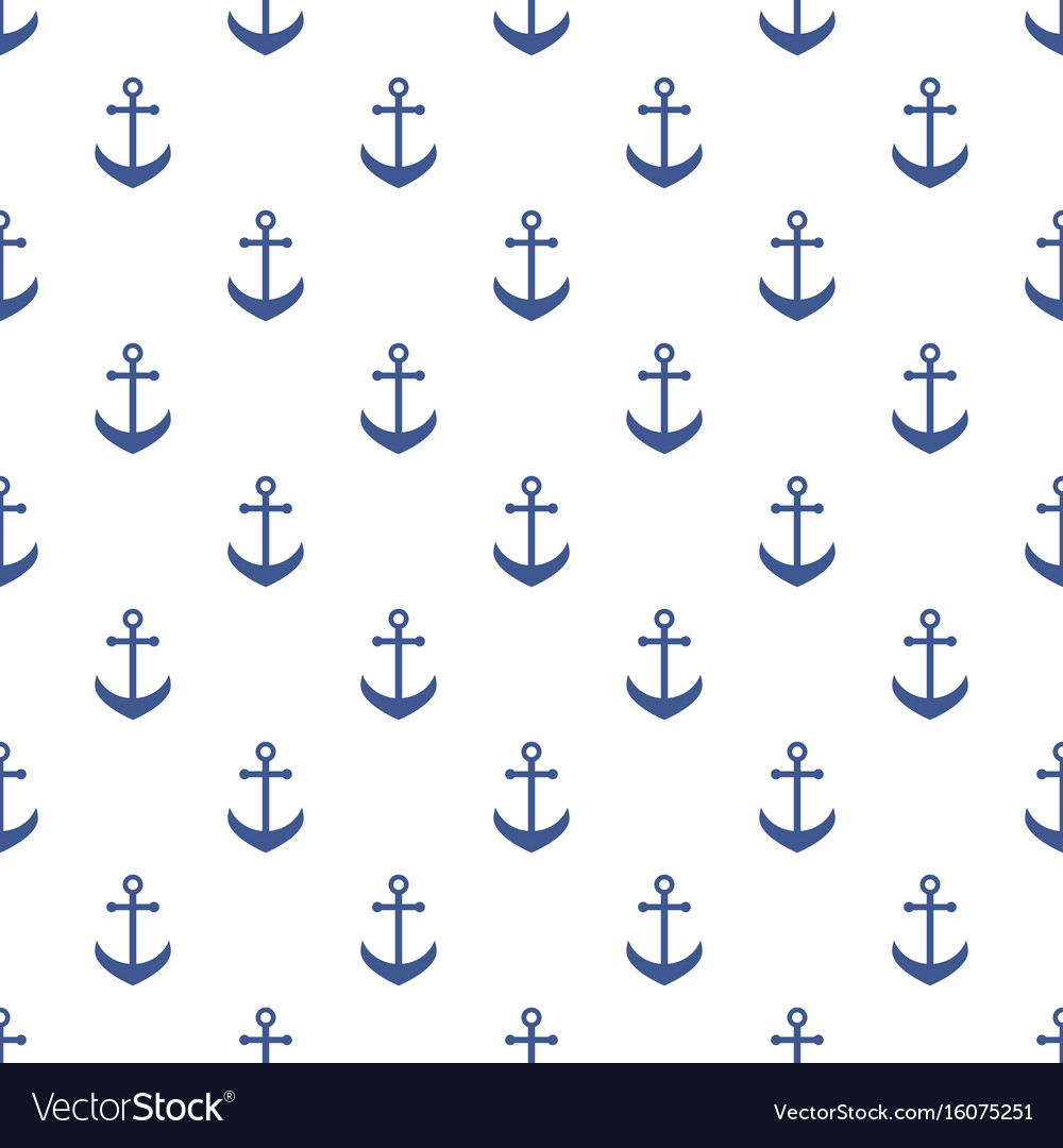 Background with blue anchors Royalty Vector Image 1000x1080
