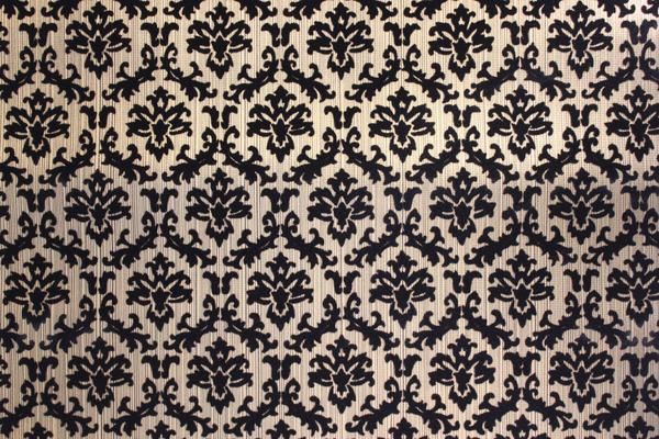 Wallpaper Black and Gold Flocked Small Damask Design Vintage Wallpaper 600x400