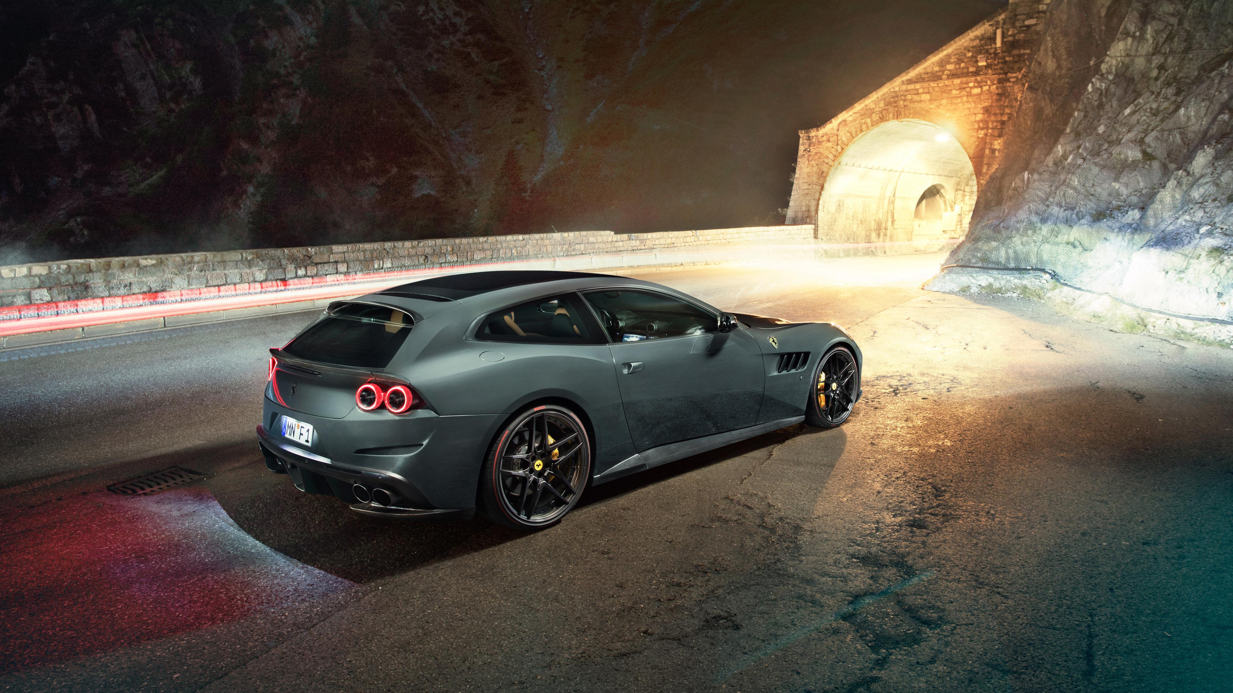 2017 Ferrari GTC4Lusso by Novitec Rosso 4K 3 Wallpaper HD Car 4096x2304