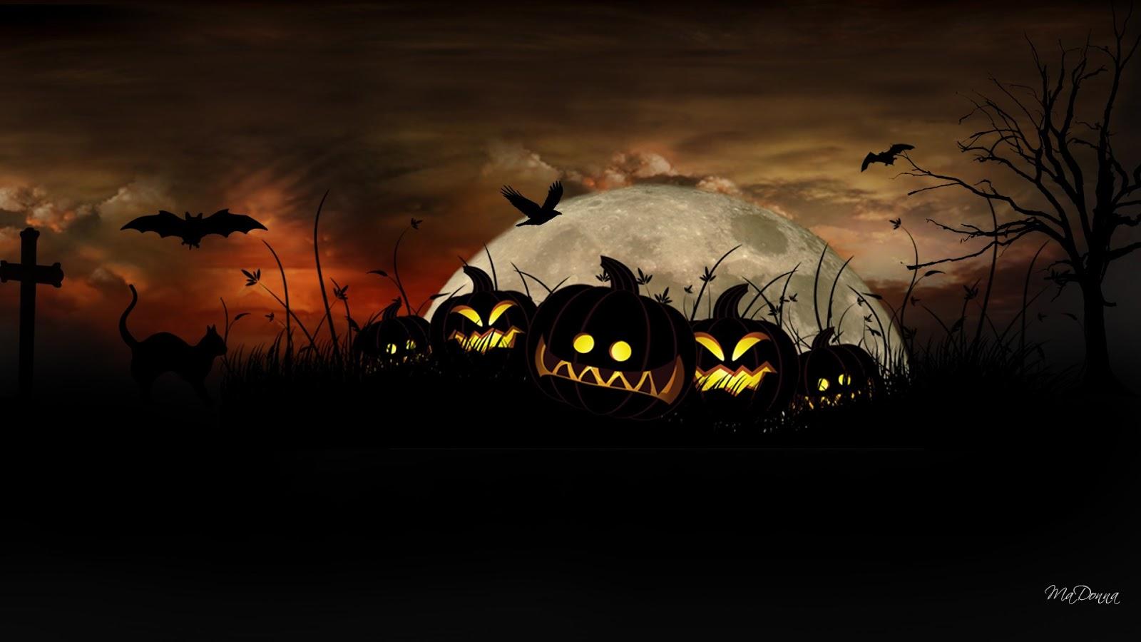 wallpapercomphotocute halloween desktop wallpaper29html 1600x900