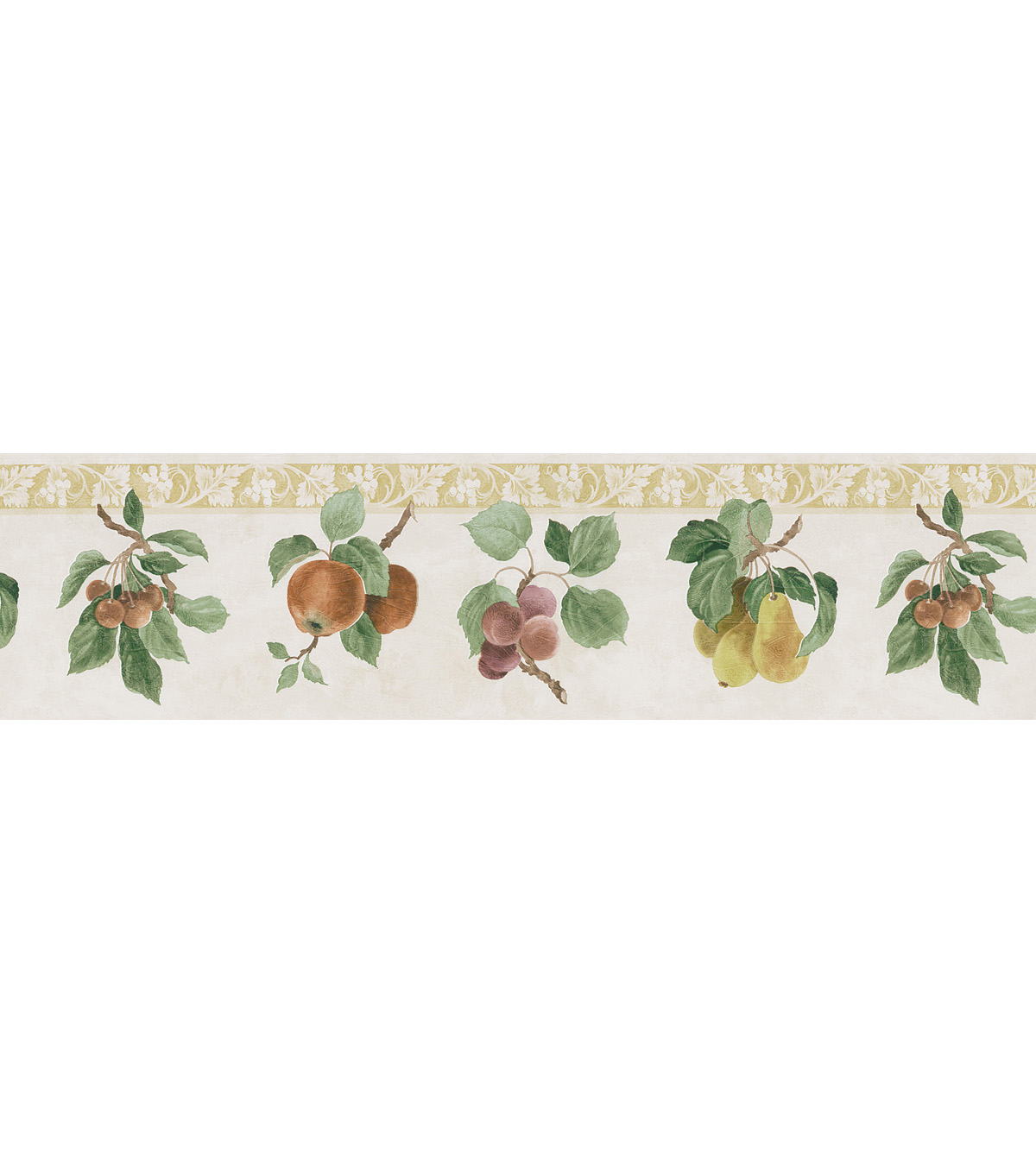 Fruit Print Wallpaper Border GreenFruit Print Wallpaper Border Green 1200x1360