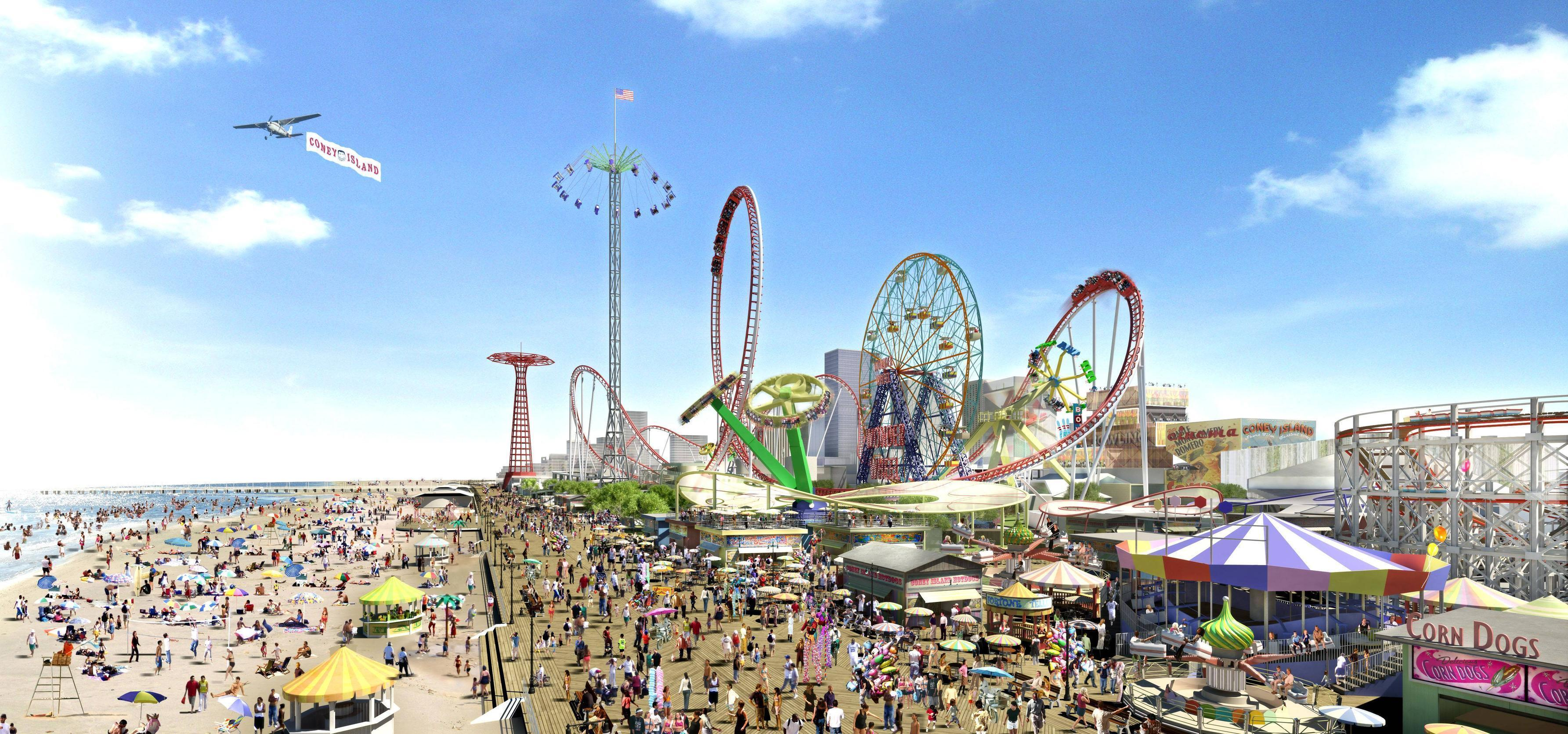 Coney Island Wallpapers 3570x1672