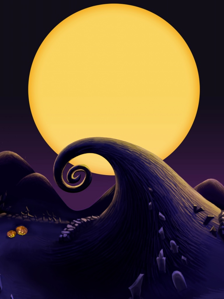 768x1024 The Nightmare Before Christmas Landscape Ipad wallpaper 768x1024