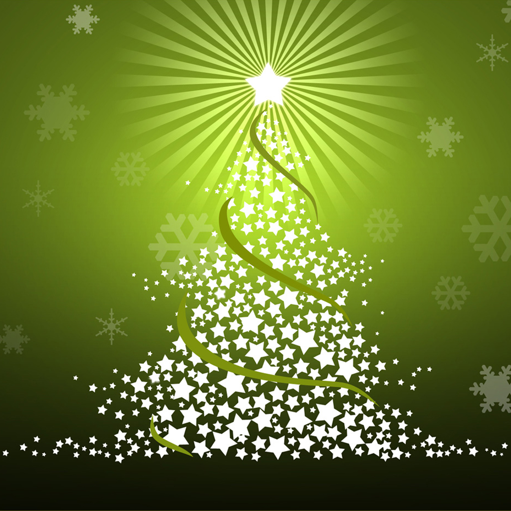 iPad Wallpapers Download Christmas Tree 1024x1024