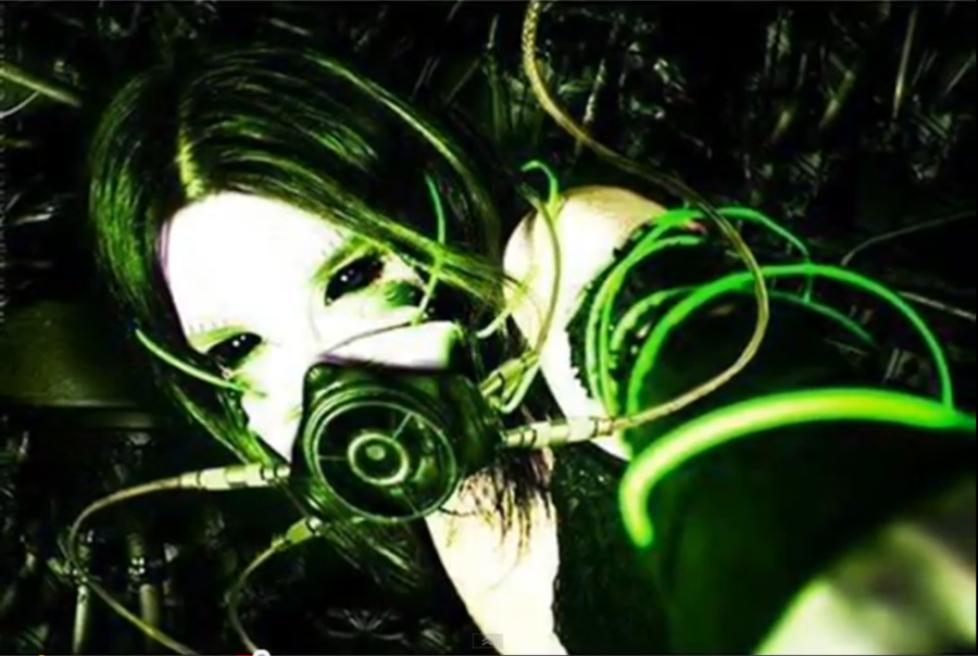 Cyber Goth Wallpaper Cybergoth cyberneticgreen by 900x604